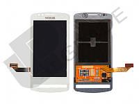 Дисплей для Nokia 700 (RM-670) + тачскрин, белый