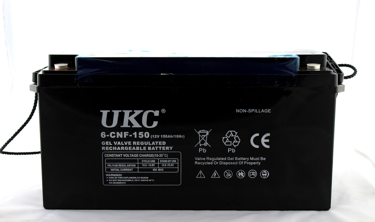 Аккумулятор BATTERY GEL 12V 150A UKC (1)  в уп. 1шт.