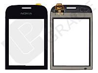 Тачскрин для Nokia 202 Asha/203, черный, оригинал (Китай)
