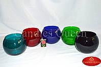 Ваза цветная шар 120х150 мм цвет черный глянец непрозрачный