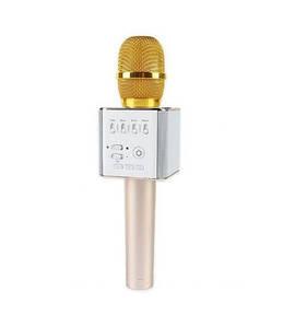 Портативный беспроводной караоке микрофон Q7, bluetooth колонка