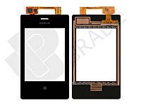 Тачскрин для Nokia 503 Asha Dual Sim, черный