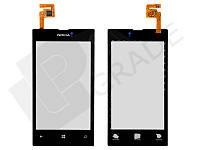 Тачскрин для Nokia 520 Lumia/525 Lumia, черный, оригинал (Китай)