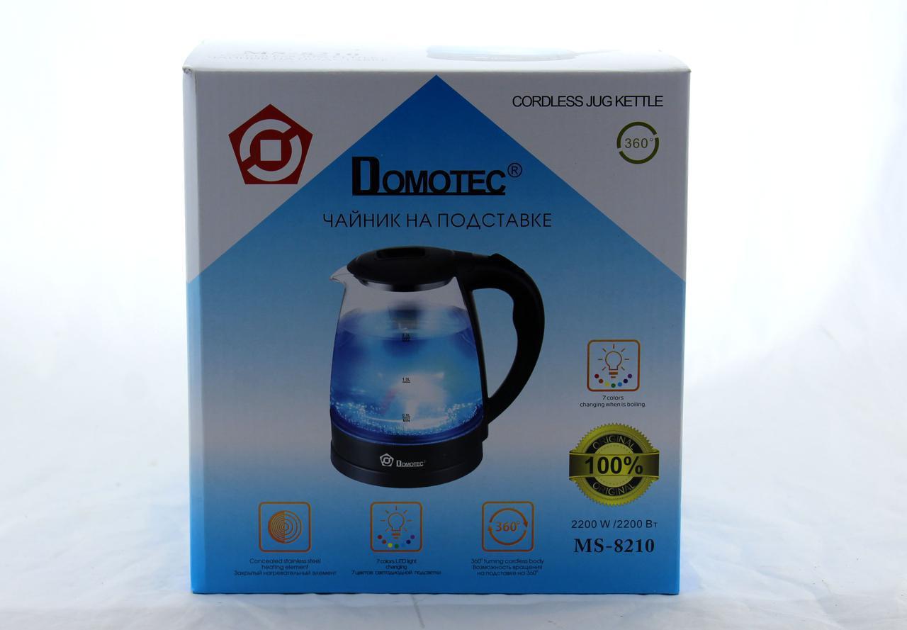 Чайник MS 8210 Black стекло (ТОЛЬКО ЯЩИКОМ!!!) (6)   в уп. 6шт.