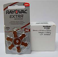Батарейки для слуховых аппаратов Rayovac Extra 312 (60 шт)
