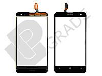 Тачскрин для Nokia 625 Lumia, черный, оригинал (Китай)