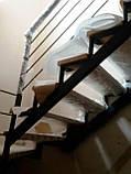 Металлический каркас лестницы с забежными ступенями, фото 3