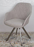 Кресло поворотное ALMERIA текстиль бежевый Nicolas, фото 5