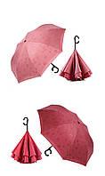 Зонт обратного сложения при намокании проявляется рисунок