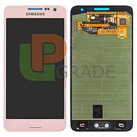Дисплей для Samsung A300H Galaxy A3 (2015)/A300F + тачскрин, розовый, Soft Pink, оригинал (Китай)