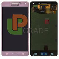 Дисплей для Samsung A500H Galaxy A5 (2015)/A500F + тачскрин, розовый, Soft Pink, оригинал (Китай)