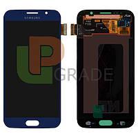 Дисплей для Samsung G920F Galaxy S6 + тачскрин, синий, Black Sapphire, оригинал 100%