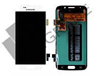 Дисплей для Samsung G925F Galaxy S6 Edge + тачскрин, белый, White Pearl, оригинал (Китай)