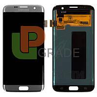 Дисплей для Samsung G935F Galaxy S7 Edge + тачскрин, серебристый, оригинал (Китай)