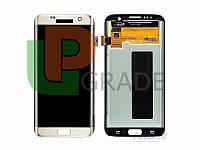 Дисплей для Samsung G935F Galaxy S7 Edge + тачскрин, белый, оригинал (Китай)