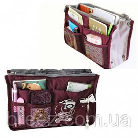 Органайзер Bag in bag maxi бордовый