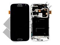 Дисплей для Samsung i9505 Galaxy S4 + тачскрин, черный, Black Edition, с передней панелью, оригинал (Китай)