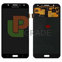 Дисплей для Samsung J700H Galaxy J7 (2015) + тачскрин, черный, оригинал (Китай)