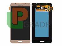 Дисплей  Samsung J710F Galaxy J7 2016 + тачскрин (сенсор), золотистый, оригинал , переклеено стекло