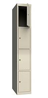 Шкаф одежный металлический 300/1-4, размеры 1800х300х500мм, гардеробный шкаф в раздевалку 2944300