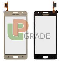 Тачскрин для Samsung G530H Galaxy Grand Prime /G530F, золотистый, #BT541. оригинал (Китай)