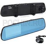 Зеркало Видеорегистратор BLACKBOX FullHD с камерой заднего вида , фото 3