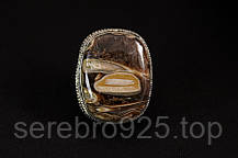 Кольцо с агатом в серебре, фото 2