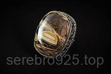 Кольцо с агатом в серебре, фото 3