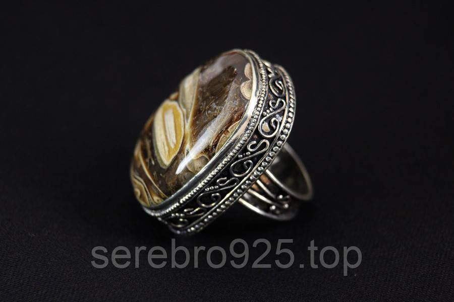 Кольцо с агатом в серебре