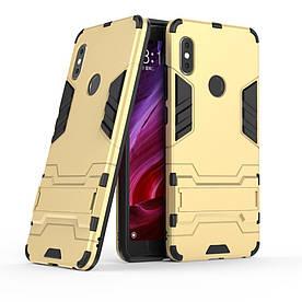 Чехол накладка для Xiaomi Redmi Note 5 | Note 5 PRO | Mi 6X противоударный ALIEN, золотистый