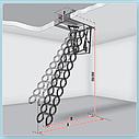 Металеві сходи на горище LiteStep OST-B  Металическая чердачна  лестница LiteStep OST-B, фото 2