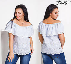 Блуза хлопковая с открытыми плечами