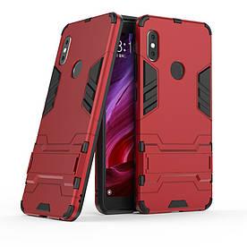 Чехол накладка для Xiaomi Redmi Note 5 | Note 5 PRO | Mi 6X противоударный ALIEN, красный