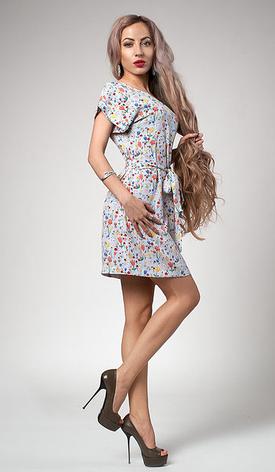 """Легкое летнее платье """"Лейла"""" размеры 46 мелкий цветочек, фото 2"""