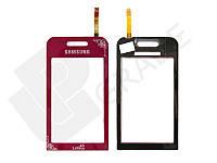 Тачскрин для Samsung S5230 Star, красный, La'Fleur