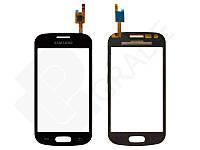 Тачскрин для Samsung S7390 Galaxy Trend Lite, черный, Midnight Black, оригинал (Китай)