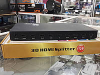 Разветвитель HDMI Viewcon VE 405. 3D .8-port