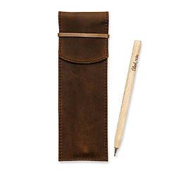 Чехол для ручек 1.0 Орех (+эко-ручка и карандаш)