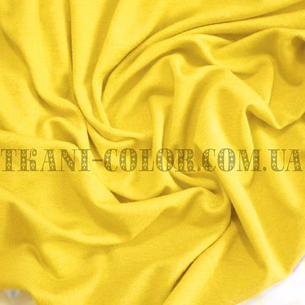 Трикотаж вискоза желтая, Китай, 180см, фото 2