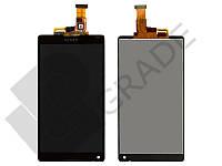 Дисплей для Sony C6502 Xperia ZL L35h/C6503 L35i/C6506 + тачскрин, черный