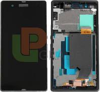 Дисплей для Sony C6502 Xperia ZL L35h/C6503 L35i/C6506 + touchscreen, черный, с передней панелью