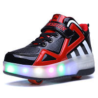 109e002ed355 Светящиеся Кроссовки LED на роликах (1 и 2 рол.) детские и подростковые (
