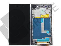 Дисплей  Sony C6902 Xperia Z1 L39h/С6903/С6906/С6943 с тачскрином (модуль), черный, в рамке, оригинал