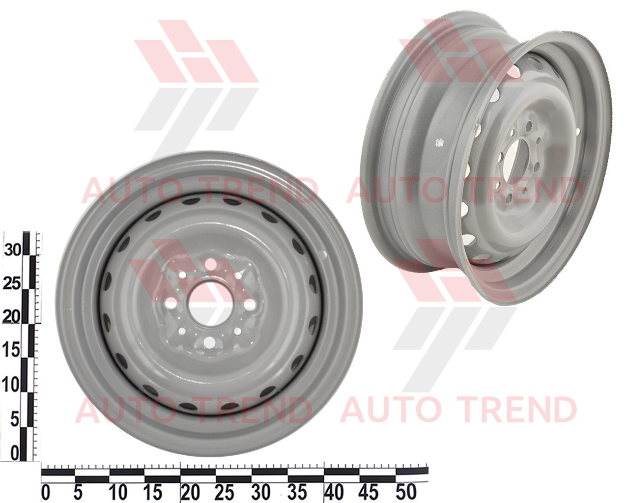 Диск колеса ВАЗ 2101-2107 серый