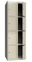 Шкаф одежный металлический 300/2-4, размеры 1800х600х500мм, 8 секций, гардеробный шкаф в раздевалку 2944600