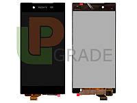 Дисплей для Sony E6603 Xperia Z5/E6653  /E6633 Dual/E6683 Dual + тачскрин, черный, оригинал (Китай)