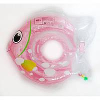 Круг для купания младенцев «Рыбка»(розовый)