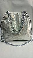 Женская кожаная сумка клатч в стиле Stella McCartney