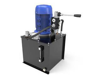 Маслостанция с ручным управлением. Подача 9 литров в минуту, давление от 35 до 160 бар
