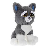 Интерактивная игрушка Feisty Pets Добрые Злые зверюшки Плюшевый Пес Сэмми 20 см